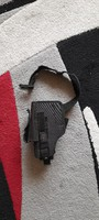 Fekete színű, erős vászon pisztoly tok csatos övvel (jobbos) FOXPOST-ba is !