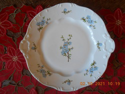 Zsolnay peach flower pattern pastry serving bowl