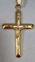 Gold 14k large cross, crucifix pendant 5.5g