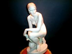 Herend's large kneeling nude figure is 34 cm high