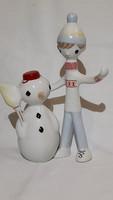 Rare collectible aquincum boy and snowman