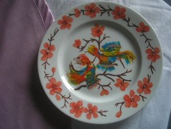 N11 antique zsolnay plate flawlessly 18 cm hummingbird ornate specimen draft made for export