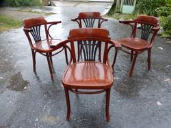 4 thonet chairs.