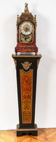Boulle style clock with pedestal