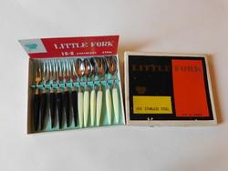 Retro stainless steel cocktail cutlery in original packaging