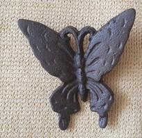 Öntöttvas Fali Dísz Pillangós