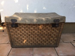 Huge military wicker chest