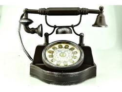 Retró Fém Telefonos Óra