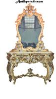 A404 beautiful Italian Venetian baroque console table with mirror