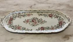 Zsolnay wildflower pattern sandwich serving platter, flawless like new
