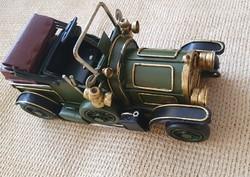 Fém lemez Oldtimer Autó Makett (zöld)