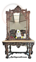 A409 beautiful baroque putto console table with mirror