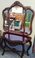 Baroque console table with mirror