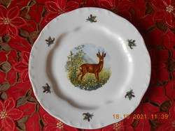 Zsolnay hunting scene flat plate