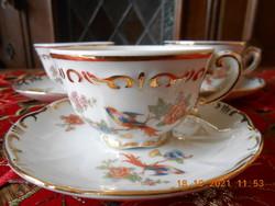Zsolnay tomato bird coffee cup + saucer