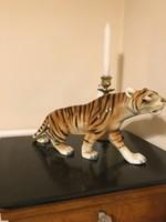 Large royal dux porcelain tiger.