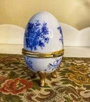 Tojás ékszertartó porcelán.
