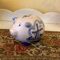Delft flawless pig sleeve with Dutch mill pattern.