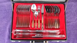 12 Personalized silver-plated cutlery set in your own bag