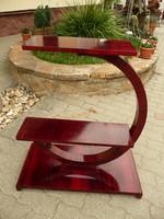 Beautiful, restored, original antique art deco special mahogany flower stand / pedestal