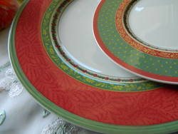 Rare villeroy and boch, festive memories of Christmas, plate and cake in one
