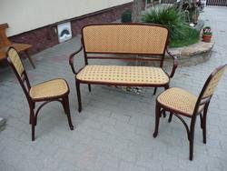 Antique, gustav siegel nr.492 Thonet salon set in perfect, flawless, restored condition