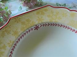 Villeroy & boch Christmas deep plate, winter snowflake
