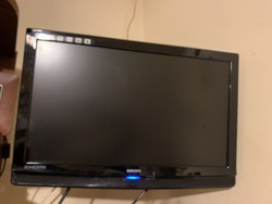 Orion tv. Used, but it works well and I also add a wall mount