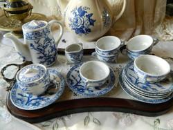 Miniature coffee and tea doll porcelain set