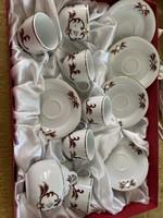 Porcelain coffee set from Kalocsa
