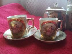 4 scenes mocha cups with sugar holder