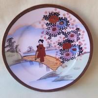Japanese porcelain plate, hand-painted, rare, beautiful!