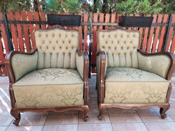 Nice baroque armchairs, 2 baroque armchairs for sale