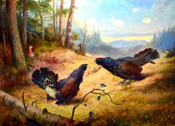Mayer Alajos (1878 - 1953) is the two fighting grouse! Around 1910