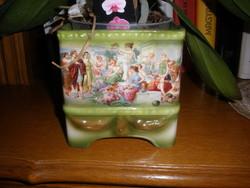Antique faience pots