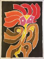 Veress Pál színes szitanyomat 1997