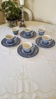 English faience, ironstone breakfast set (4 persons)