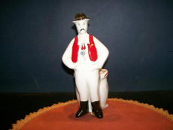 Porcelain figurine from Kalocsa is 15 cm high