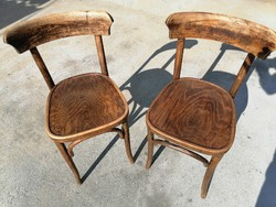 2 pairs of thonet-style antique chairs.