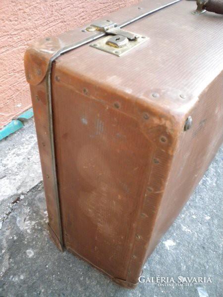 U293 Antik nagyméretű VULCAN FIBER bőrönd - Otthon af0001c4fa