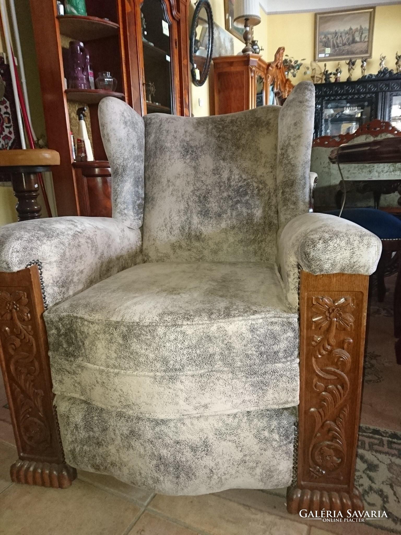 Renesans fotel  ÚJ KÁRPIT  - Bútor  5d3484fedb