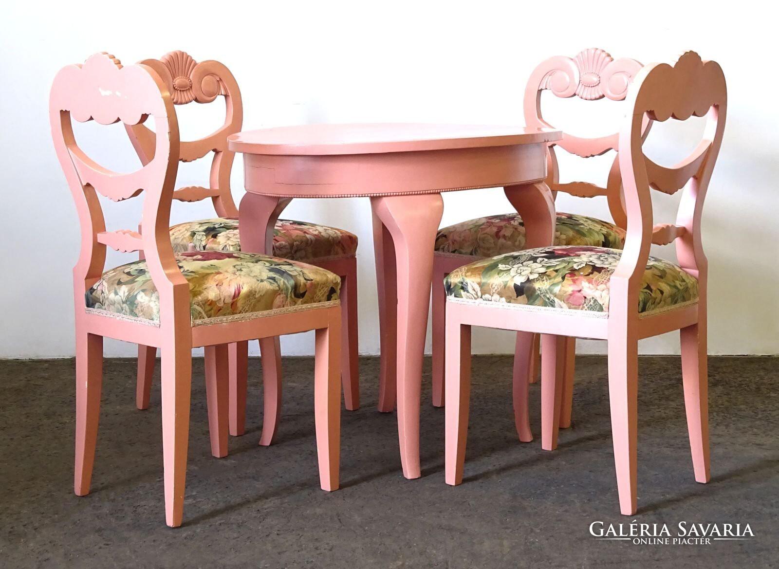 0O650 Öt darabos rózsaszín szalongarnitúra Bútor | Galéria