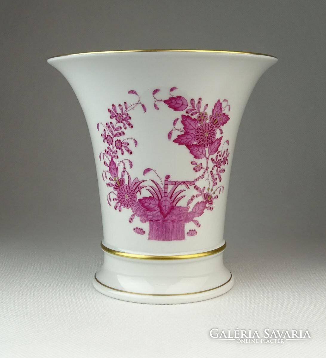 0Q455 Lila indiai kosaras Herendi porcelán váza - Porcelán  e76a3cebc6