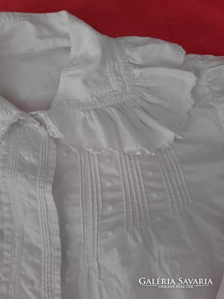 2a2131638b Antik, régi autentikus fehér vászon, hímzett paraszt ing, női blúz ...