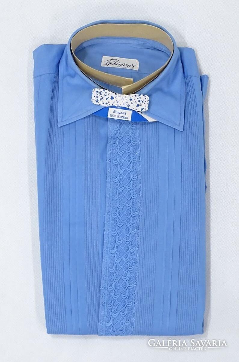 b573e39e32 +-3 +-3 +-3 +-3. Item descriptionShipping and payment. Régi, gyönyörű kék  színű férfi ing.